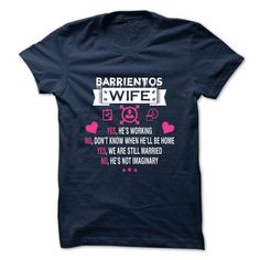 BARRIENTOS - My Wife - #gift for women #housewarming gift. WANT THIS => https://www.sunfrog.com/Valentines/-BARRIENTOS--My-Wife.html?68278