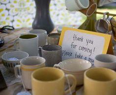Fun Wedding Favor Idea - Vintage Coffee Mugs