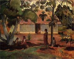 Paul Gauguin, The large tree on ArtStack #paul-gauguin #art