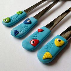 Dětský příbor.. rybičky..:)