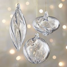 These will probably be so pretty on the tree - Optic Glass Ornaments