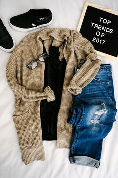 trending now | womens fashion | trendy outfits | trendy moms | casual chic | what to wear | trendy outfits | ootd | look of the day | distressed denim | sneaker style | vans slip ons | velvet cami | cozy cardigans | casual chic style | casual style | mom style | trendy outfits for moms