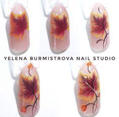 Одноклассники New Nail Art, Fall Nail Art, Nail Art Diy, Autumn Nails, Winter Nails, Gel Nagel Design, Seasonal Nails, Thanksgiving Nails, Halloween Nail Art