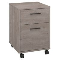 Get organized on the go with the soft, casual look of this washed gray two-drawer mobile pedestal. 22 high x 15 wide x 15 deep. Key West two-drawer mobile pedestal from Bush Furniture. Style # at Lamps Plus. Rolling File Cabinet, Drawer Filing Cabinet, Cheap Office Supplies, Office Necessities, Mobile Pedestal, Mobile File Cabinet, Floating Desk, Office Supply Organization, Apartments