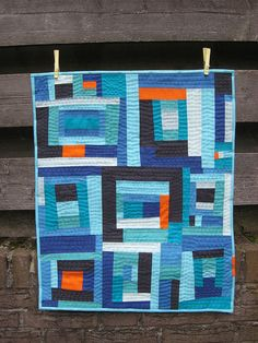 Modern Mini Challenge Quilt by Simone: inspired by Gee's Bend Quilts