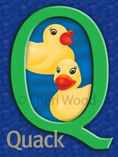 "The Carnegie Center for Literacy and Learning in Lexington, Kentucky once commissioned local artists to create an alphabet poster. My letter was ""Q,"" and it was adopted by a preschool class. The teacher told me the kids just loved the ducks and saying the word ""Quack,"" which makes me smile every time I remember that."