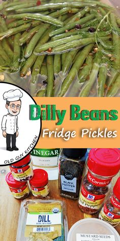 Refrigerator Dilly Beans Looking for a unique pickle? Try these dill pickled green beans. This brine also makes great dill pickle spears or chips from cucumbers too. No cooking or canning, just mix and refrigerate! Pickling Brine Recipe, Avocado Recipes, Vegetable Recipes, Pickled Green Beans, Canning Recipes, Dilly Beans Recipe Canning, Canning 101, Alcohol Recipes, Refrigerator Pickles