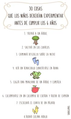 30 cosas que los niños deberían experimentar