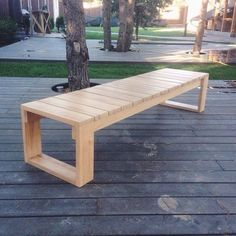 Wooden Bench Ideas Outdoor_23