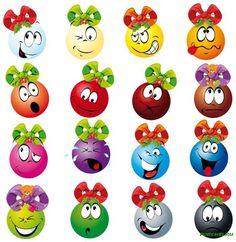 Xmas balls vector image on VectorStock Christmas Emoticons, Illustrations, Clipart, Decoration, Yoshi, Playroom, Xmas, Kitty, Smileys