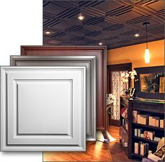 drop white ceiling tiles - Drop Ceiling Makeover