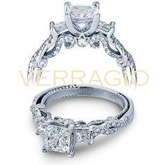 Verragio INSIGNIA-7074P Princess Cut Diamond Engagement Ring This ravishing Verragio INSIGNIA-7074P Diamond Engagement Ring Setting is perfection. Handcrafted with exquisite details, this engagemen…