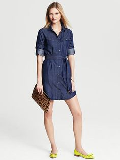 Banana Republic Chambray Shirtdress. Less truly is more. http://www.recoram.com