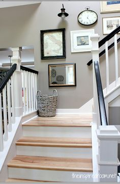 Pulling up the carpet and doing this with the stairs!