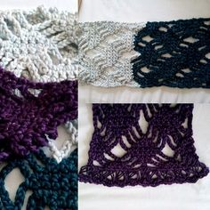 Crochet Scarf in spider stitch and broomstick lace Vinnis Colours Tori Yarn