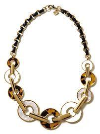 Tortoise focal necklace  Banana Republic