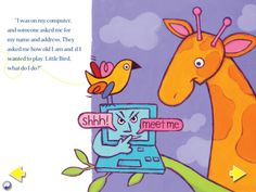 Little Bird ($0.00) a children's book produced by AVG for parents to use with their young Pre-School children. The book is designed to help parents initiate conversations about Internet safety in an age-appropriate manner.