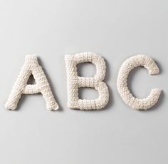 Crocheted Letters || Restoration Hardware Baby & Child