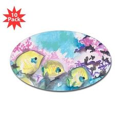 10 Coral Reef Fish Decal