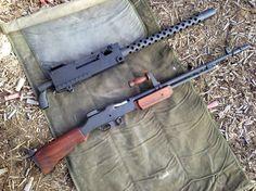 Browning M1919a4 + BAR 1918a3