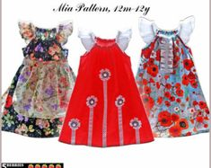 Ava Peasant Dress Pattern Long and Short Sleeves by 5Berries. Pillowcase ... & Tie Dye Diva Patterns: Tutorial Tuesday: How to add flutters to ... pillowsntoast.com