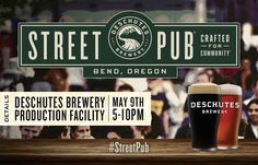 Join us for our first ever Street Pub, a pop up pub of epic proportions, in Bend Oregon!
