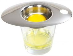 Egg separator in stainless steel. Glass receptacle not included. Product: Egg separatorConstruction Material: Stainless steelColor: SilverDimensions: HNote: Glass receptacle not includedCleaning and Care: Dishwasher safe Gluten Free Chocolate Chip Cookies, Chocolate Chip Cookie Bars, Kitchen Tools, Kitchen Gadgets, Kitchen Utensils, Kitchen Craft, Kitchen Dining, Kitchen Small, Kitchen Products