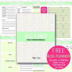FREE Blog Planner!, Blog Organizer, Printable, Freebie