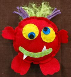 This Monster Stuffie is a great project for beginning sewers!!