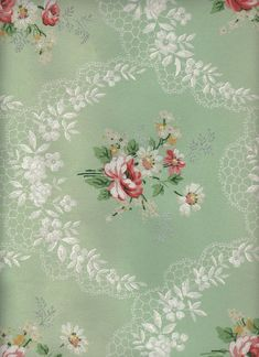 Sage Green Floral Wallpaper by Karen Watson - See more at: http://thegraphicsfairy.com/sage-green-floral-wallpaper/#sthash.Abc1qK11.dpuf