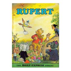 Rupert the Bear book 1972 Nostalgic vintage by VintiquesCorner, $22.68
