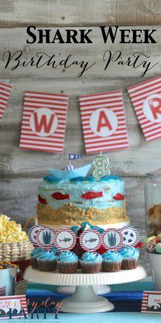 Shark Week Birthday Party - Everyday Party Magazine