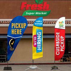 FLEA MARKET Sale Swooper Banner Feather Flutter Tall Curved Top Flag