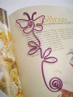 ALAMBRE arte BOOKMARK - mariposa - genial como regalos o favores