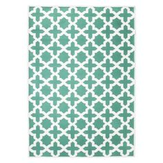 Threshold™ Indoor/Outdoor Area Rug - Turquoise Would look so pretty in our living room, and since it's an outdoor/indoor rug it could hold up to our dogs! Indoor Outdoor Area Rugs, Indoor Rugs, Outdoor Spaces, Outdoor Living, Living Room Decor, Living Spaces, Dining Room, Dining Table, Affordable Rugs