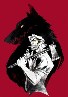 'Bib Bad Wolf' Poster by viciousmongrel The Wolf Among Us, Anime Wolf, Fables Comic, Neko, Wolf Poster, Mongrel, Big Bad Wolf, Fan Art, Anime Sketch