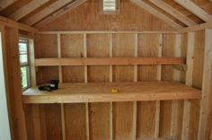 How to Build Shed Storage Shelves - One Project Closer #howtobuildashed
