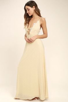 5a57999a98 The Sway With Me Beige Embroidered Maxi Dress is all you ll