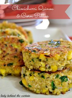 Lady Behind The Curtain - Chimichurri Quinoa And Corn Patties