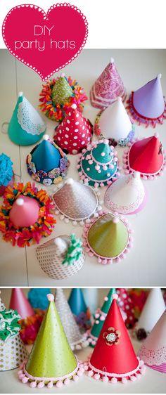 Studio ToutPetit: Festive Fridays * DIY party hats