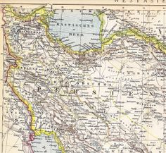 1898 Persia Afghanistan Balochistan and the Persian by Maptimistic, $15.90