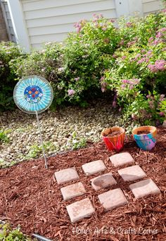 Holly's Arts and Crafts Corner: Craft Project: Beautifying Our Yard in a Creative Way...tic tac toe yard game