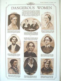 Susan B. Anthony, Elizabeth Cady Stanton, Lucretia B. Mott, the Blackwell sisters, Julia Ward Howe, Lucy Stone, Mary A. Livermore, Martha C.Wright
