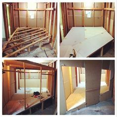 Progress! #thruthetrapdoor #onmaingallery #amesroom #installation #interactive #vancouver opening April 22nd.