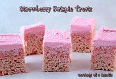 Strawberry Krispies with Pink Frosting | Burning Down The Kitchen with Noshing with the Nolands | Cravings of a Lunatic