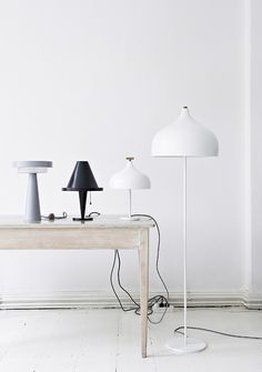 Nordic home decor. Simple and modernistic table lamp and floor lamp. #rassphome #contemporary #minimalist