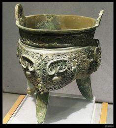 青铜鼎,晚商 Bronze Ding (Cooking Utensil), late Shang Dynasty, c.1250-1066 BC