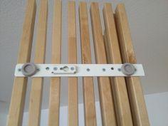 MANDAL Headboard to wardrobe conversion Wood Slat Wall, Wooden Panelling, Wood Slats, Ikea Mandal Headboard, Ikea 2018, Ikea Wardrobe Hack, Ikea Hack Kids, Wall Decor Quotes, Wood Projects