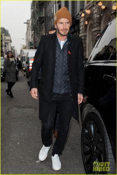 David beckham at fashion awards 2014