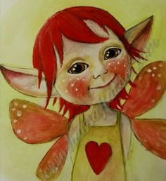 A little love-fairy, because love is what I believe in! ❤ www.hatsaflatsa.com
